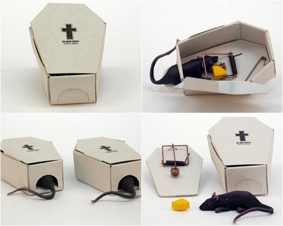 """老鼠的棺材,创意捕鼠器 有没有想过老鼠的""""棺材""""是什麼样子?"""